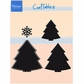 Marianne Designs Craftables Die - 3 Christmas Trees & Snowflake