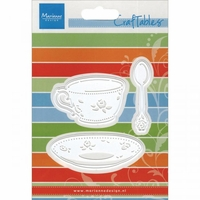 Marianne Designs Craftables Die - Coffee Cup, Saucer & Spoon