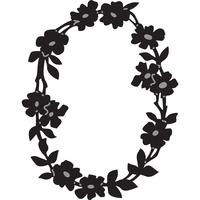 Marianne Designs Craftables Die - Flower Border Oval