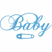 Marianne Designs Creatables Die - Baby Text & Safety Pin