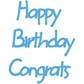 Marianne Designs Creatables Die - Happy Birthday/Congrats