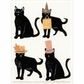 Martha Stewart Halloween Stickers - Animal Masquerade Cat