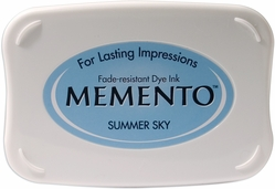 Memento Full Size Dye Inkpad - Summer Sky - Click to enlarge