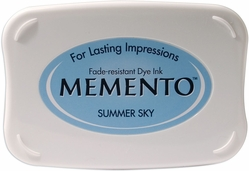 Tsukineko Memento Dye Ink Pad - Summer Sky - Click to enlarge