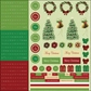 Merry Christmas Glitter Cardstock Stickers - Combo