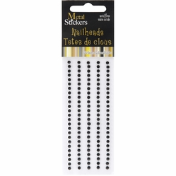 Mark Richards Metal Stickers - Nailheads 3mm Round Black - Click to enlarge