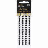 Mark Richards Metal Stickers - Nailheads/5mm/Round/Black