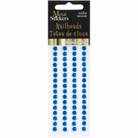 Mark Richards Metal Stickers - Nailheads/5mm/Round/Blue