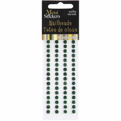 Metal Stickers - Nailheads/5mm/Round/Xmas Green - Click to enlarge