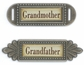 Metal Word Embellishment  - Grandmother/Father