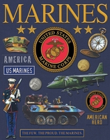 Military Deluxe Foil Embossed Stickers - Marines