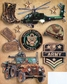 Military Grand Adhesions Embellishments - Army