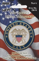 Military Metal Medallions - Navy