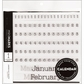 Mini-Marks Rub-On Transfer Books - Calendar Numbers & Months