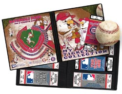 MLB Mascot Ticket Album - WA Nationals/Screech and the Presidents - Click to enlarge