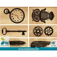 Momenta Wood Mounted Stamps