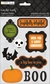 Monster Mash Chipboard Stickers - Phrases & Icons