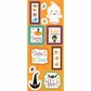 Monster Mash Chipboard Stickers - Treats