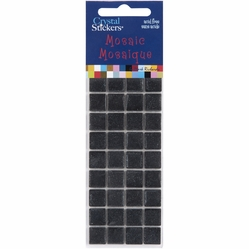 Mosaic Crystal Stickers - 10mm/Black - Click to enlarge
