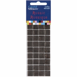 Mosaic Crystal Stickers - 10mm/Brown - Click to enlarge