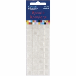 Mark Richards Mosaic Crystal Stickers - 10mm/White - Click to enlarge