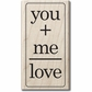 "Mounted Rubber Stamp 2.5""x2.5"" - You+Me+Love"