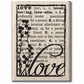 "Mounted Rubber Stamp 2.5""x3.5"" - Love Defined"