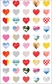 Mrs. Grossman's Stickers - 25th Anniversary Hearts