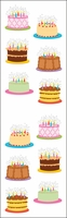 Mrs. Grossman's Stickers - Birthday Cakes/Reflections