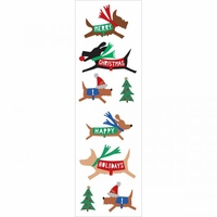 Mrs. Grossman's Stickers - Christmas Dogs