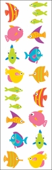 Mrs. Grossman's Stickers - Chubby Fish - Click to enlarge
