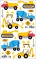Mrs. Grossman's Stickers - Construction Equipment