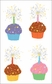 Mrs. Grossman's Stickers - Cupcakes