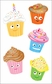 Mrs. Grossman's Stickers - Cutie Cupcakes