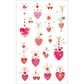 Mrs. Grossman's Stickers - Hanging Hearts