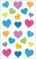 Mrs. Grossman's Stickers - Happy Hearts