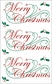 Mrs. Grossman's Stickers - Merry Christmas