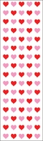Mrs. Grossman's Stickers - Micro Red and Pink Hearts