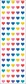 Mrs. Grossman's Stickers - Multi Micro Hearts