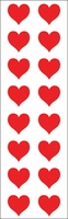 Mrs. Grossman's Stickers - Red Hearts Small