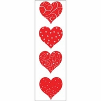Mrs. Grossman's Stickers - Red & Silver Heart