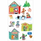Mrs. Grossman's Stickers - Santa's Village