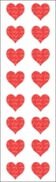 Mrs. Grossman's Stickers - Small Red Hearts