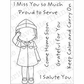 My Favorite Things Pure Innocence Clear Stamps - Soldier Girl