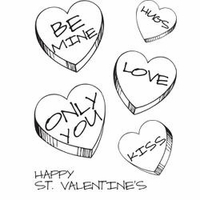 My Sentiments Exactly Clear Stamps - Love Candies