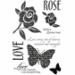 My Sentiments Exactly Clear Stamps - Lovely Rose