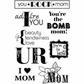 My Sentiments Exactly Clear Stamps - Mom