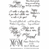My Sentiments Exactly Clear Stamps - Mother's Day