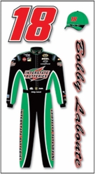 Nascar 3-D Stickers - Bobby Labonte Suit - Click to enlarge
