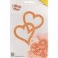 """Nellie's Choice Filling Dies - 2 Hearts 3.5""""x4"""""""